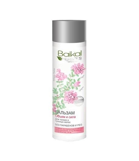 Balsam - objętość i siła do włosów cienkich i delikatnych - Baikal Herbals 280ml