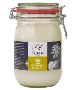 BIO Olej Kokosowy - Olmuhle Solling 1000 ml (słoik szklany)