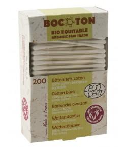 Patyczki higieniczne z bawełny ekologicznej - 200 szt Bocoton