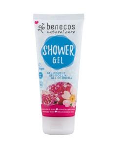 Ujędrniający żel pod prysznic z granatem i różą - Benecos 200 ml