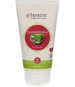 Oczyszczające mleczko do twarzy z aloesem - Benecos 150 ml