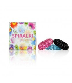 Gumki Spiralki do włosów - 3 szt