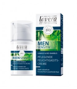 Men Sensitiv krem nawilżający z bio-miłorzębem i bio-bambusem - Lavera 30 ml