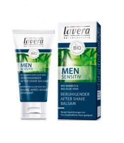 Men Sensitiv łagodzący balsam po goleniu z bio-bambusem i bio-aloesem - Lavera 50 ml