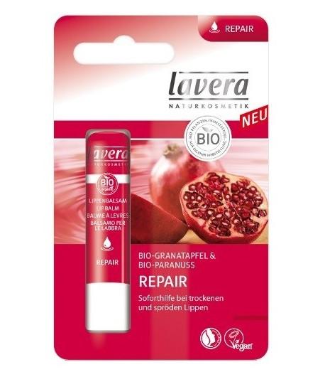 Balsam do ust regenerujący z bio-granatem i bio-orzechem para - Lavera 4,5 g