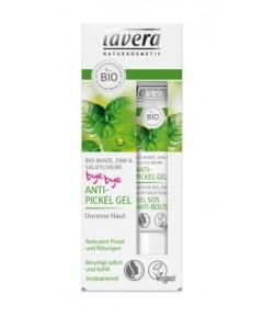 Żel na pryszcze z bio-miętą, cynkiem i kwasem salicylowym - Lavera 15 ml