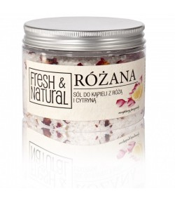 Różana sól do kąpieli z Różą i Cytryną - Fresh&Natural 500g