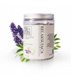 Relaksująca sól do kąpieli z Lawendą i Zieloną herbata - Fresh&Natural 1 kg