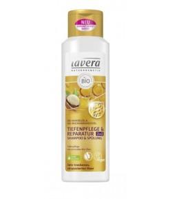 Intensywnie regenerujący szampon i odżywka 2w1 - Lavera 250 ml