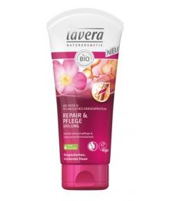 Odżywka do włosów suchych i zniszczonych z bio-różą i proteinami roślinnymi - Lavera 200 ml