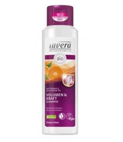 Szampon wzmacniający i nadający wolumenu z bio-pomarańczą i bio-zieloną herbatą - Lavera 250 ml