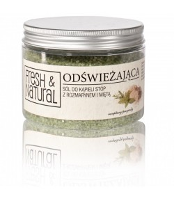 Odświeżająca sól do kąpieli stóp z Rozmarynem i Mietą - Fresh&Natural 500g