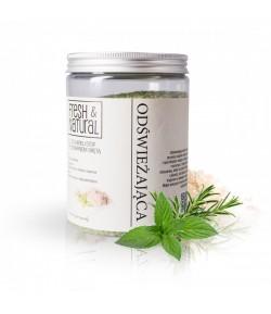 Odświeżająca sól do kąpieli stóp z Rozmarynem i Mietą - Fresh&Natural 1 kg