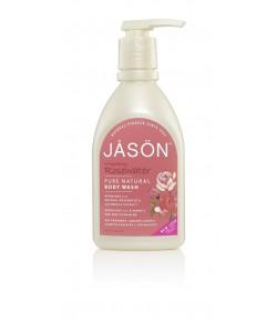 Odżywczo-odświeżający żel pod prysznic z wodą różaną - JASON 887 ml