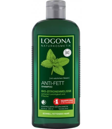 Szampon do włosów przetłuszczających się z Bio-Melisą Cytrynową - Logona 250 ml