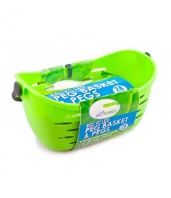 Eko koszyczek na spinacze do bielizny wyprodukowany z tworzywa z recyclingu + 24 spinacze - EcoForce