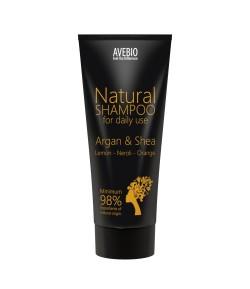 Bio szampon z olejkiem arganowym i masłem shea - AVEBIO 200 ml