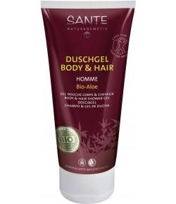 Homme 2w1 Żel pod prysznic do ciała i włosów z bio-aloesem - Sante 200 ml