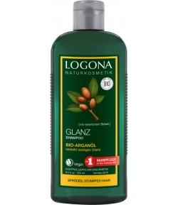 Szampon nadający połysk z olejem arganowym i olejem Inca Inchi - Logona 250 ml