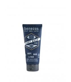 Odświeżający żel do mycia ciała, twarzy i włosów 3w1 - Mini - Benecos 30 ml