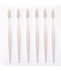 Eko szczoteczka do zębów z bioplastiku biała - BIO BRUSH BERLIN