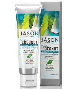Kokosowa pasta do zębów - odświeżająca z eukaliptusem - Jason 119 g