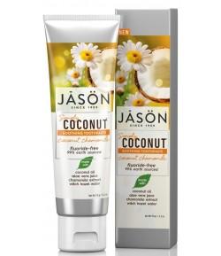 Kokosowa pasta do zębów - kojąca z rumiankiem - Jason 119 g