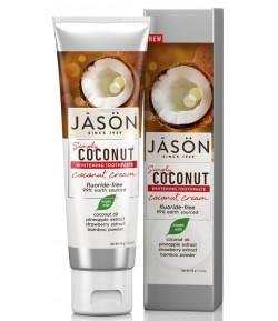 Kokosowa pasta do zębów - wybielająca z ananasem - Jason 119 g