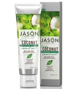 Kokosowa pasta do zębów - wzmacniająca szkliwo z wapniem i magnezem - Jason 119 g