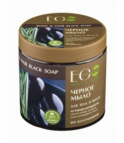 Greckie czarne mydło do ciała i włosów - EO LAB 450 ml