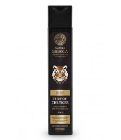 Szampon energetyzujący do włosów i ciała 2w1 - WŚCIEKŁOŚĆ TYGRYSA - Natura Siberica Men 250 ml
