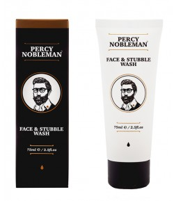 Face & Stubble Wash Płyn do mycia twarzy i zarostu - Percy Nobleman 75 ml