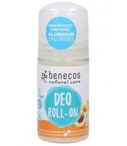 Naturalny dezodorant Roll-on z morelą i czarnym bzem - Benecos 50 ml
