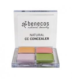 Poczwórna paletka naturalnych korektorów – Benecos 6 g