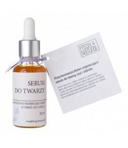 Przeciwzmarszczkowo-regenerujące serum do twarzy, szyi i dekoltu - Fresh&Natural 30 ml
